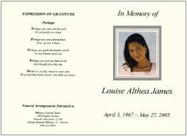 template for funeral service memorial programs sles templates bi fold tri fold service