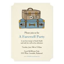 farewell party invitation going away party invitations announcements zazzle