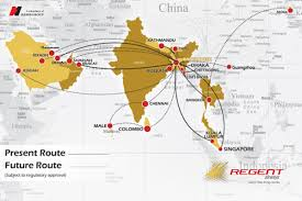 Route Map by Route Map Regent Airways
