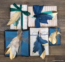 Handmade Gift Wrapping Paper - beautiful gift wrapping idea using paper feathers diy paper crafts