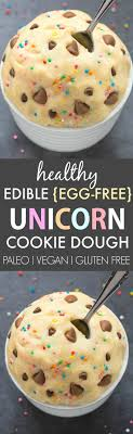 edible photo healthy edible egg free unicorn cookie dough paleo vegan gluten free