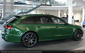 audi exclusive sonoma green rs 6 avant you u0027re welcome audi