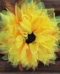 Sunflower Mesh Wreath Jellybeana U0027s Craft U0026 Paint