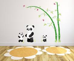 captivate your child s imagination with our exclusive luxury self panda bear nursery wall stickers 3
