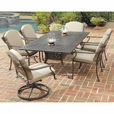 Patio Furniture 7 Piece Dining Set - shop home styles covington 7 piece metallic chocolate aluminum