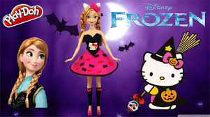 disney frozen anna play doh hello kitty halloween costume play
