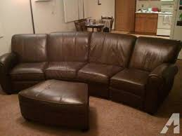 Leather Sofa Recliner Sale Curved Reclining Leather Sofa W Ottoman For Sale In Plover