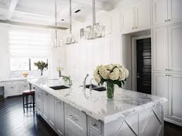 Black And White Kitchen With Curved Island Elektravetro by White Kitchen Black Island 50 Images Transitional White