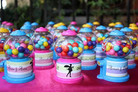 gumball party favors cirque du soleil sweet 16 party b lovely events