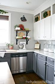 Open Cabinets In Kitchen Thrifty Decor Christmas Home Tour From Thrifty Decor