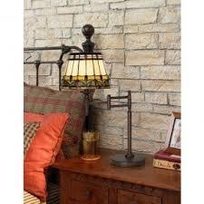 Bronze Swing Arm Table Lamp Tiffany Style Desk Lamp Foter