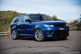blue range rover interior 2016 range rover sport svr review video performancedrive