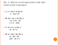 solve the equation or formula for indicated variable a 21 tessshlo