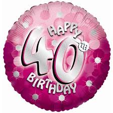 40th birthday balloons delivered pink sparkle party happy birthday 40th balloon delivered inflated in uk