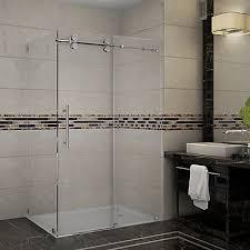 48 Inch Glass Shower Door Aston Langham 48 Inch X 35 Inch X 75 Inch Frameless Shower Stall