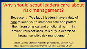 risk management in scouting ppt video online download