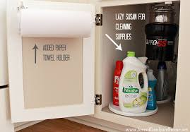 kitchen towel holder ideas cleaning organizing the kitchen sink of family home