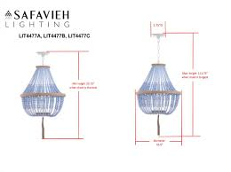 Pendant Light Height by Lit4477a Pendants Lighting By Safavieh