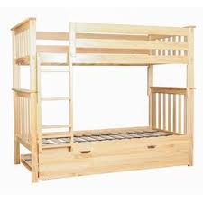 Trundle Bunk  Loft Beds Youll Love Wayfair - Wooden bunk bed with trundle