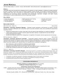 resume exles information technology manager requirements director of operations resume sle