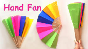 diy homemade paper hand fan best out of waste kids craft