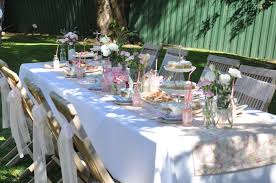 garden tea party table idea real parties vintage tea garden