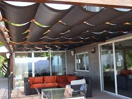 Patio Cover Shade Cloth by Slidewire Outdoor Roman Shades Modern Patio Los Angeles By