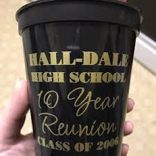 high school reunion favors 16oz custom stadium cups class reunion plastic cups family