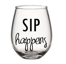 stemless wine glasses sip happens stemless wine glass