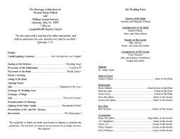 Downloadable Wedding Program Templates Templates For Wedding Programs Template Design