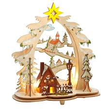 wooden christmas tree 11 led cutout wooden christmas tree with ski trail christmas tree