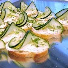 posh canapes recipes cucumber and dill canapes recipe all recipes uk