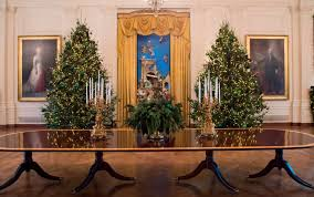 melania unveils white house decorations time