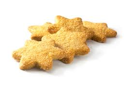 christmas cookies in star shape isolated on a white background