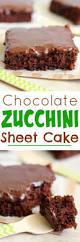 eat cake for dinner chocolate zucchini sheet cake