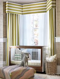 Window Box Curtains Bay Window Crib Contemporary Nursery