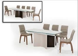modern extendable dining table nevio modern dining