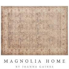 brown and tan area rug magnolia home trinity sand ivory rug tan rugs u003e area rugs