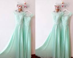 mint lace bridesmaid dresses mint bridesmaid dress etsy