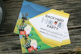 Backyard Movie Party by Backyard Movie Night Party Free Party Printables The Shirley