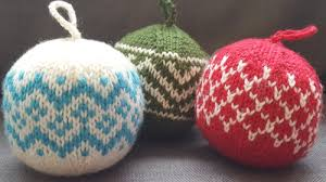 knitted ornaments a kit yarns untangled