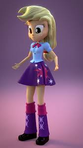 Little Girls Clothing Stores Cgi Applejack In Twilight U0027s Clothes My Little Pony Equestria