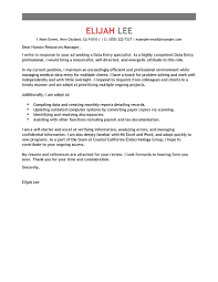 Market Research Analyst Cover Letter Examples Best Data Entry Cover Letter Examples Livecareer