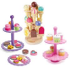spielküche zubehör holz etagere eis kuchen kaufladen spielküche zubehör spielzeug