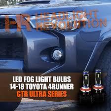 4runner fog light bulb 2014 2018 toyota 4runner fog lights led conversion kit gtr