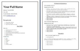 Best Receptionist Resumes by Receptionist Resume Templates Resume Templates