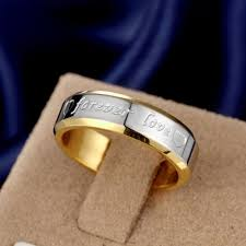silver engagement ring gold wedding band promotions women men wedding band ring gold color silver plated