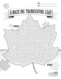 thanksgiving maze puzzle a maze ing thanksgiving leaf by classcrown