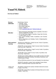 Resume For Associate Professor Resume 2