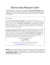Sponsorship Letter For Sports Event Example Sponsorship Letter For Event Docoments Ojazlink